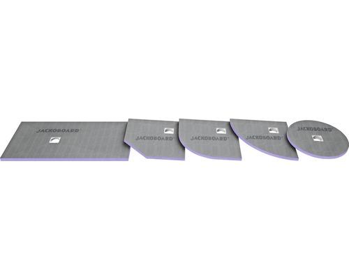 JACKOBOARD Aqua befliesbares Duschelement 900x900x40mm Ablauf zentral