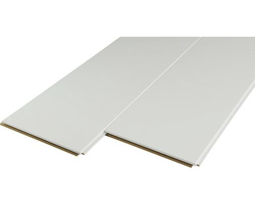 Dekorpaneel Quadro Plus Uni weiß 12x200x2000 mm