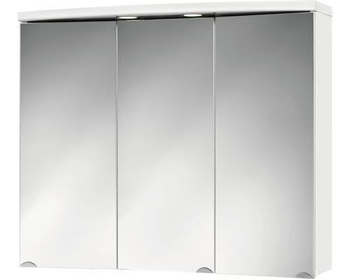 Spiegelschrank Jokey Ancona LED weiß 83x69 cm IP20