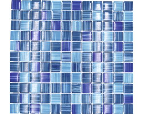 Glasmosaik XCM 8285 30,2x32,7 cm blau