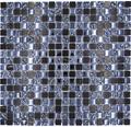 Glasmosaik mit Naturstein XCM M860 30,5x32,5 cm schwarz