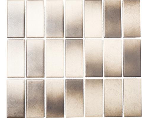 Keramikmosaik CD 294 29,5x33,5 cm mix braun/beige