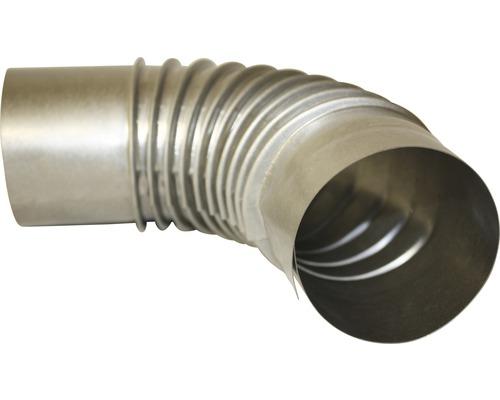 Ofenrohr-Bogen 90° Ø80 mm ohne Tür feueraluminiert