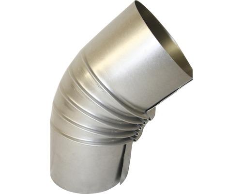 Ofenrohr-Bogen 45° Ø80 mm ohne Tür feueraluminiert