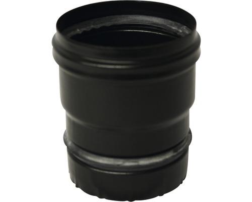 Pellet Ofenanschluss mit Dichtung Ø80 mm schwarz matt