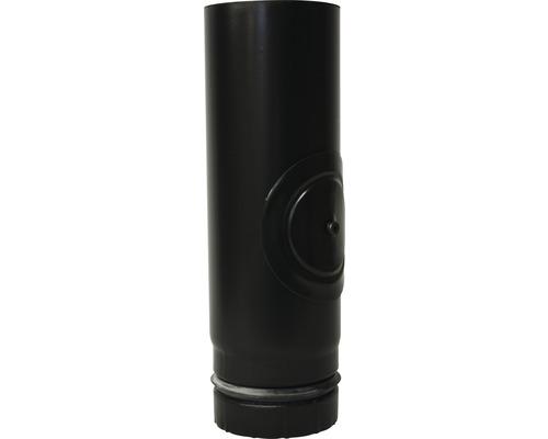 Pelletrohr Ø80 mm mit Revisionsöffnung blank silber 0,25m