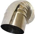 Ofenrohr-Bogen 90° Ø120 mm ohne Tür edelstahl