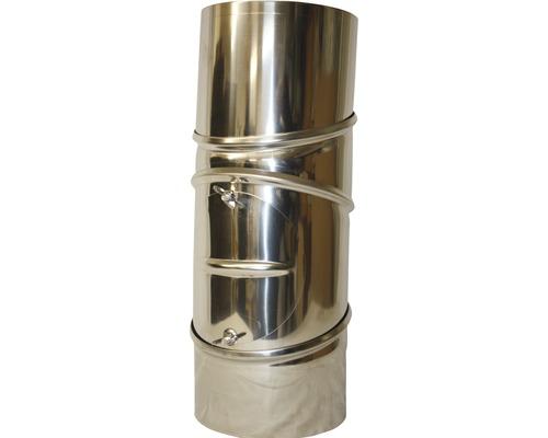 Ofenrohr-Bogen 90° Ø130 mm 4-teilig mit Tür drehbar edelstahl