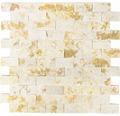 Natursteinmosaik MOS X3D 46 beige 30x30 cm