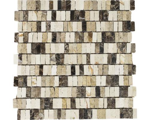 Natursteinmosaik MOS M10/VH21 beige 30x30 cm
