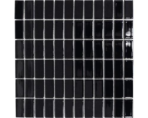 Keramikmosaik ST 390 schwarz 30x30 cm