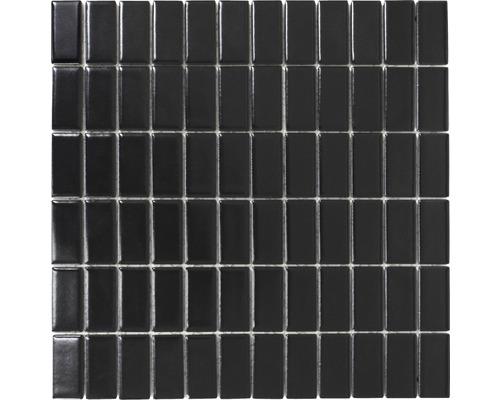 Keramikmosaik ST 395 schwarz 30x30 cm
