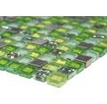 Glasmosaik XCE 99 mix grün 30,5x32,2 cm