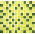 Glasmosaik XCM 8454 mix grün 32,7x30,2 cm
