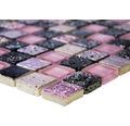 Glasmosaik mit Naturstein XCM CB 35 lila/pink 30x32,5 cm