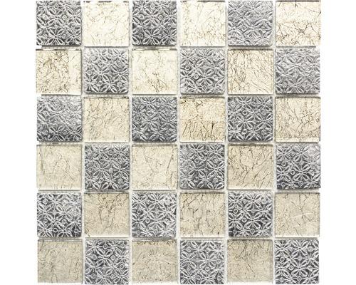 Glasmosaik XCM 8OP4 grau/beige 30x30 cm
