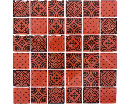 Glasmosaik XCM 8OP3 rot 30x30 cm