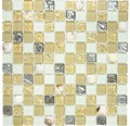 Glasmosaik XCM 8OP9 Muschel beige 30x30 cm