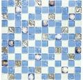 Glasmosaik XCM 8OP8 Muschel blau 30x30 cm