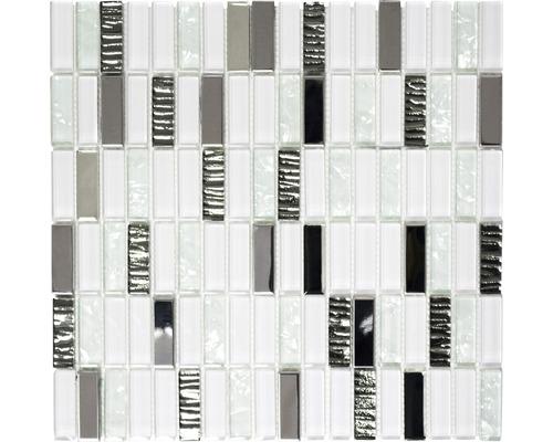 Glasmosaik XCM SM28 mix weiß 30x30 cm