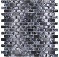 Glasmosaik mit Naturstein XIC B1128 schwarz 30x28,5 cm