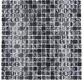 Glasmosaik mit Naturstein XIC 1028 schwarz 30,5x30,5 cm