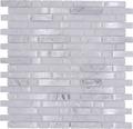 Glasmosaik mit Naturstein XIC V1311 weiß 29,8x30,5 cm