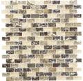 Glasmosaik mit Naturstein XIC B1155 braun/beige 30x28,5 cm