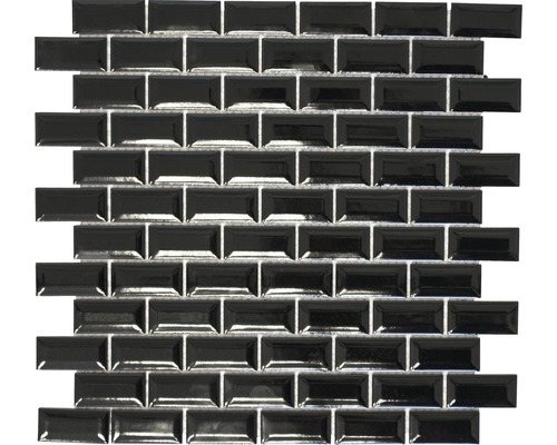 Keramikmosaik CBB 108 schwarz 30x30 cm