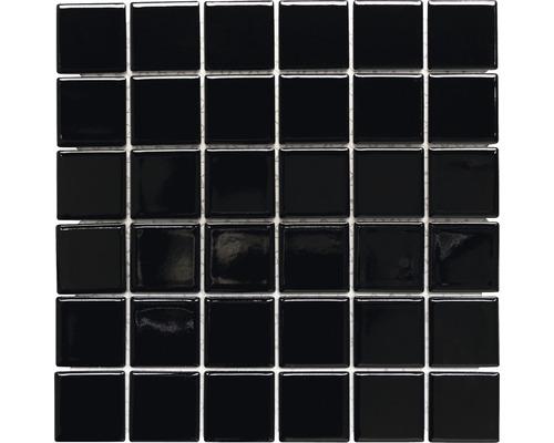 Keramikmosaik CD 190 schwarz 30x30 cm