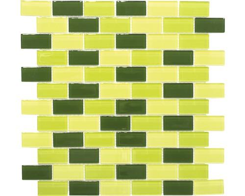 Glasmosaik CM B454 mix grün 32,2x31 cm