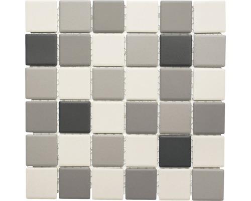 Keramikmosaik CU 213 grau/beige 29,1x29,1 cm