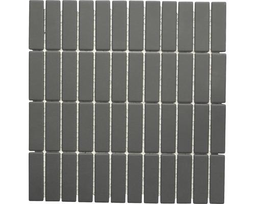 Keramikmosaik CU ST 021 schwarz 28,7x29,5 cm