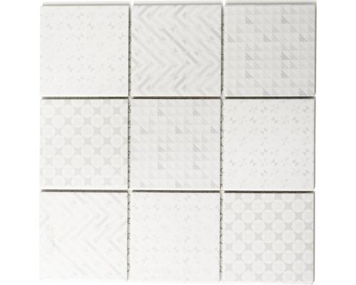 Keramikmosaik Geo white 30x30 cm