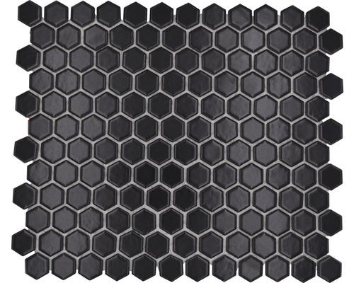 Keramikmosaik HX 065 schwarz 26x30 cm