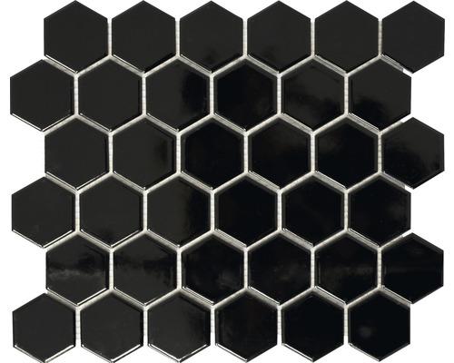 Keramikmosaik HX 090 schwarz 32,5x28,1 cm