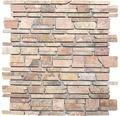 Natursteinmosaik MOS Brick 220 rot 30,5x30,5 cm
