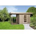 Gartenhaus weka Finline Profil Gr.3 mit Fußboden und Schleppdach 295 x 300 cm natur