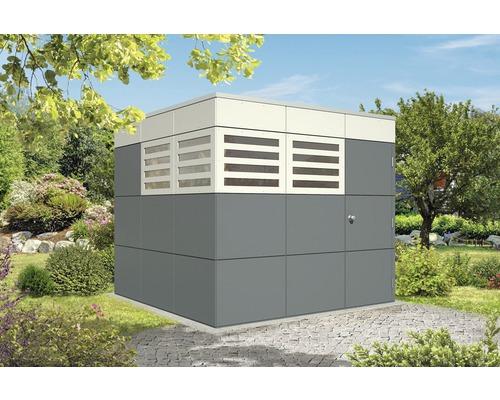 Gartenhaus SKAN HOLZ CrossCube Haus Perth 3 253 x 253 cm schiefergrau