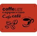 Dekor Schablone Kaffee