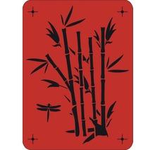 Wandschablone Bambus
