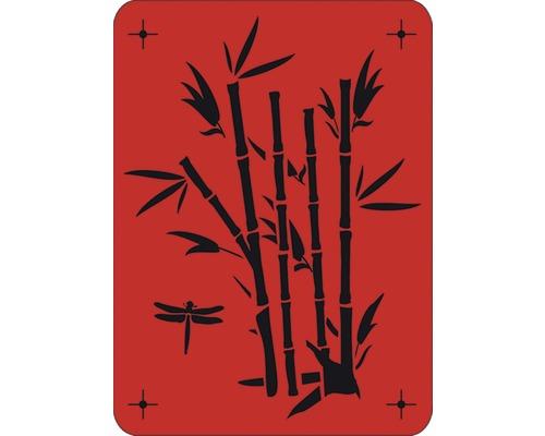 Wandschablone Bambus 43 x 56 cm