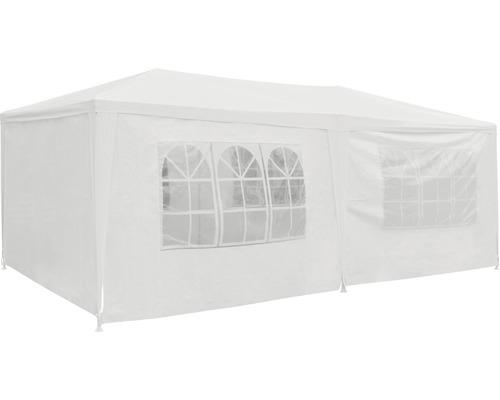 Partyzelt 3x6x2,55 m Polyethylen 125 g/m² weiß