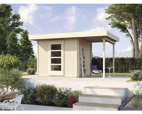 Gartenhaus weka Finline Profil Gr.2 mit Fußboden und Schleppdach 235 x 240 cm natur