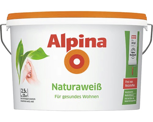 Alpina Natura Weiss Wandfarbe 2,5 l