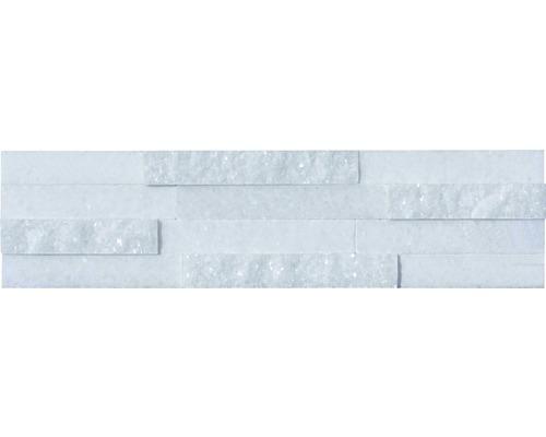 Wandverblender Naturstein weiß Straight 40/10