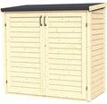 Gartenschrank/Mülltonnenbox Bertilo Multi-Box 2 164x82x163 cm natur
