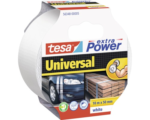 Universalband tesa extra Power 10 m x 50mm weiß