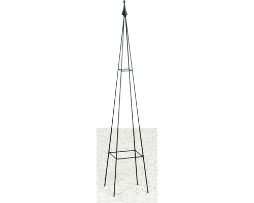 Rankobelisk Levin Metall 17x17x90 cm schwarz