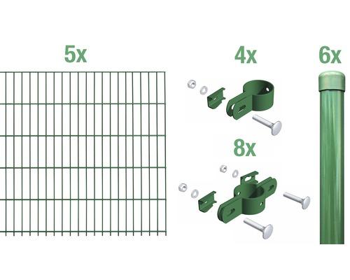 Einstabmatte Grundset 1000x125 cm, grün